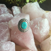 Ring turquoise & filagree oval sterling silver
