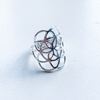ring flower of life sterling silver
