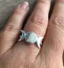 Ring triple moon sterling silver
