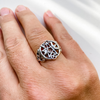 Ring pentacle sterling silver