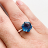 Ring apatite facet hexagon sterling silver