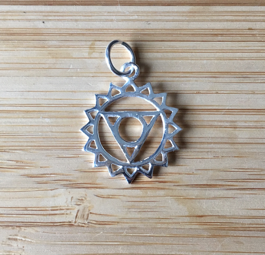 Pendant sterling silver throat chakra