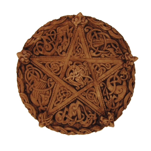 Wall Plaque Knotwork Pentacle