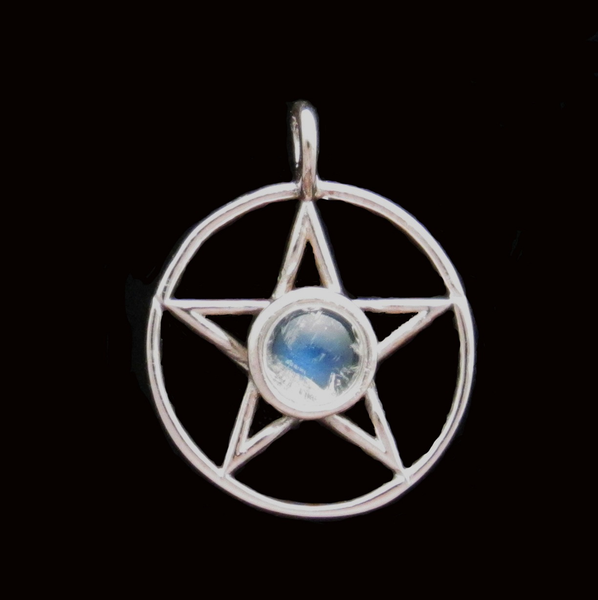Pendant Pentacle with Moonstone