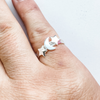 Ring moon & star 3-piece set sterling silver