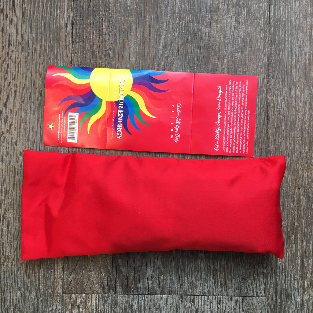 Silk Eye Pillow Red