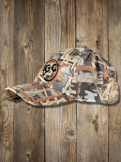 Solid OILFIELD CAMO Hat - Embroidered G C BRAND – Guns   Cattle 3359a5ce189