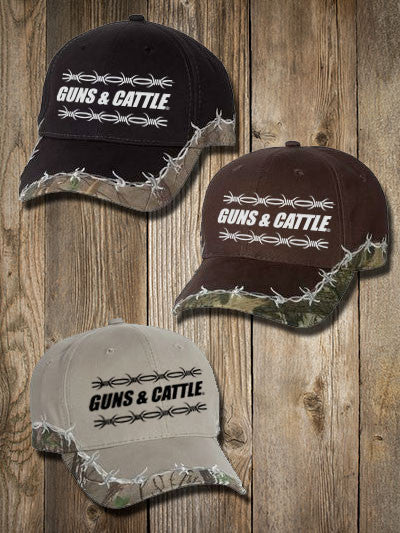 548abc84776 Barbed Wire Camo Hats - Embroidered G C FLAGSHIP – Guns   Cattle