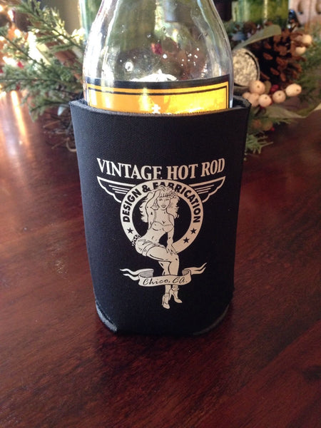 Vintage Hot Rod Koozie - Pinup