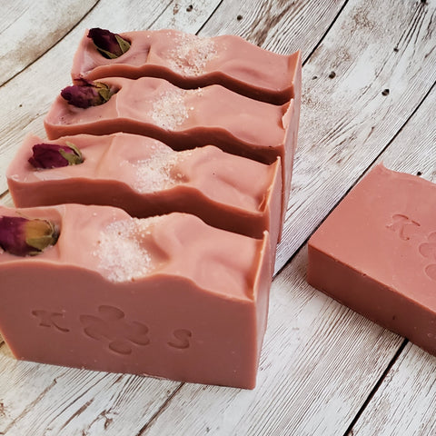 Milford Rose Bar Soap by Kilted Suds