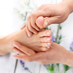 Foot Application of Essential Oils