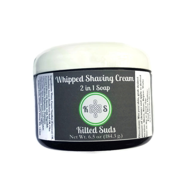 Whipped Shaving Cream - 2 in 1 Soap