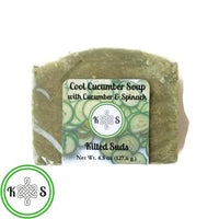 Cool Cucumber Bar Soap (Unscented) - Kilted Suds