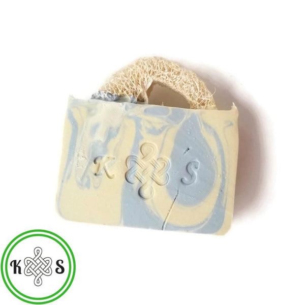 Linen Luffah Bar Soap - Kilted Suds
