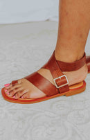 Diba True: Cite See Ankle Strap Sandals - Whiskey