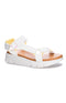 Dirty Laundry: Qwest Strappy Sandal - White