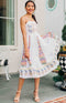 August Apparel: Sweeten the Occasion Embroidered Midi Dress - White