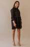 Karlie: Ask Me Already Sleeveless Mini Dress - Black