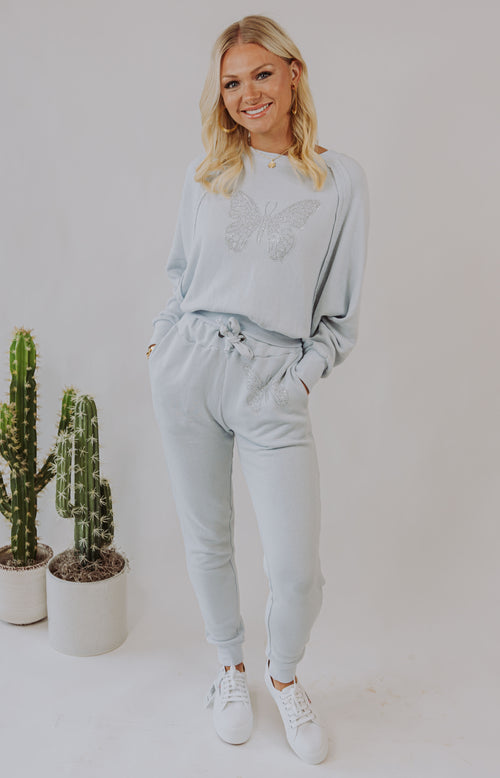 Seaside Sweetie Chambray Drawstring Joggers