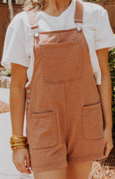 Z Supply: Short Overalls - Vintage Brown