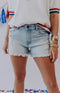 Drift Away Distressed Denim Cutoff Shorts - Light Wash