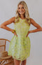 Ruche Hour Sleeveless Bodycon Mini Dress - Lime Green