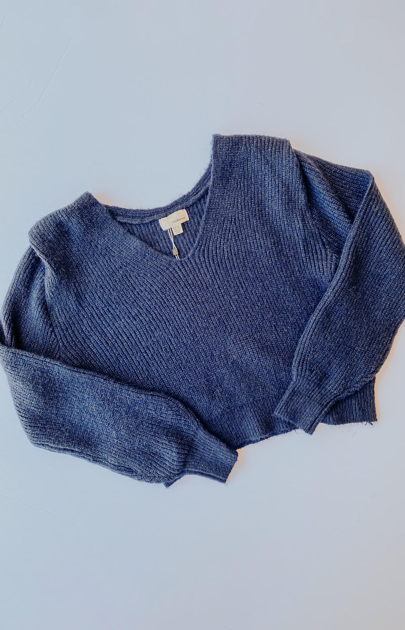 Nice and Sweet Color Block Knit Turtleneck Sweater - Navy Combo