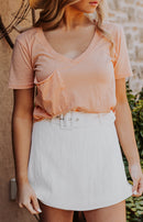 Z Supply: Classic Skimmer Cropped Short Sleeve Tee - Sunkissed