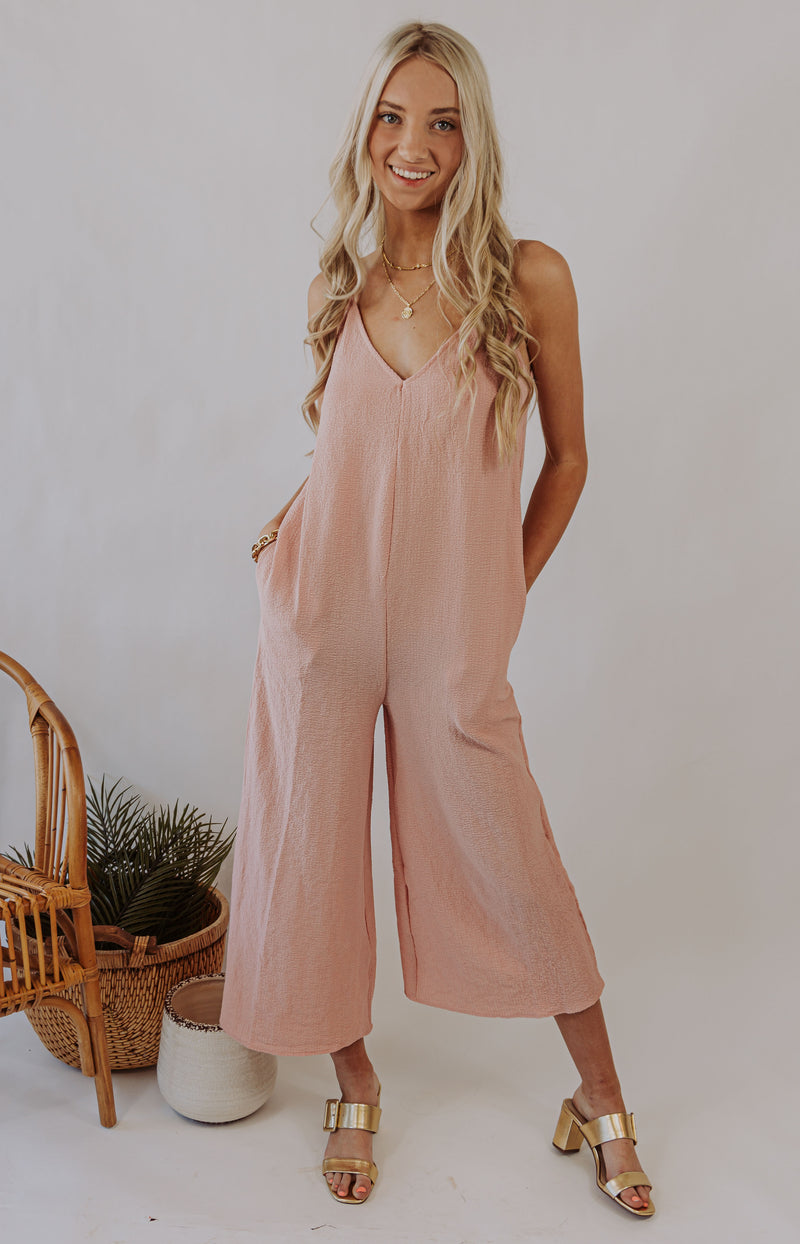 Rest and Relaxation Culotte Jumpsuit - Mauve