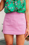 August Apparel: Sweet Pea High-Waisted Skort - Lavender