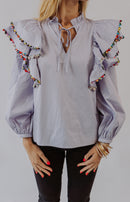 Endless Rose: Anything is Posh-ible Knot Front Top - Lavender