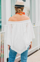 Sea of Cortez Off-the-Shoulder Top - Off White