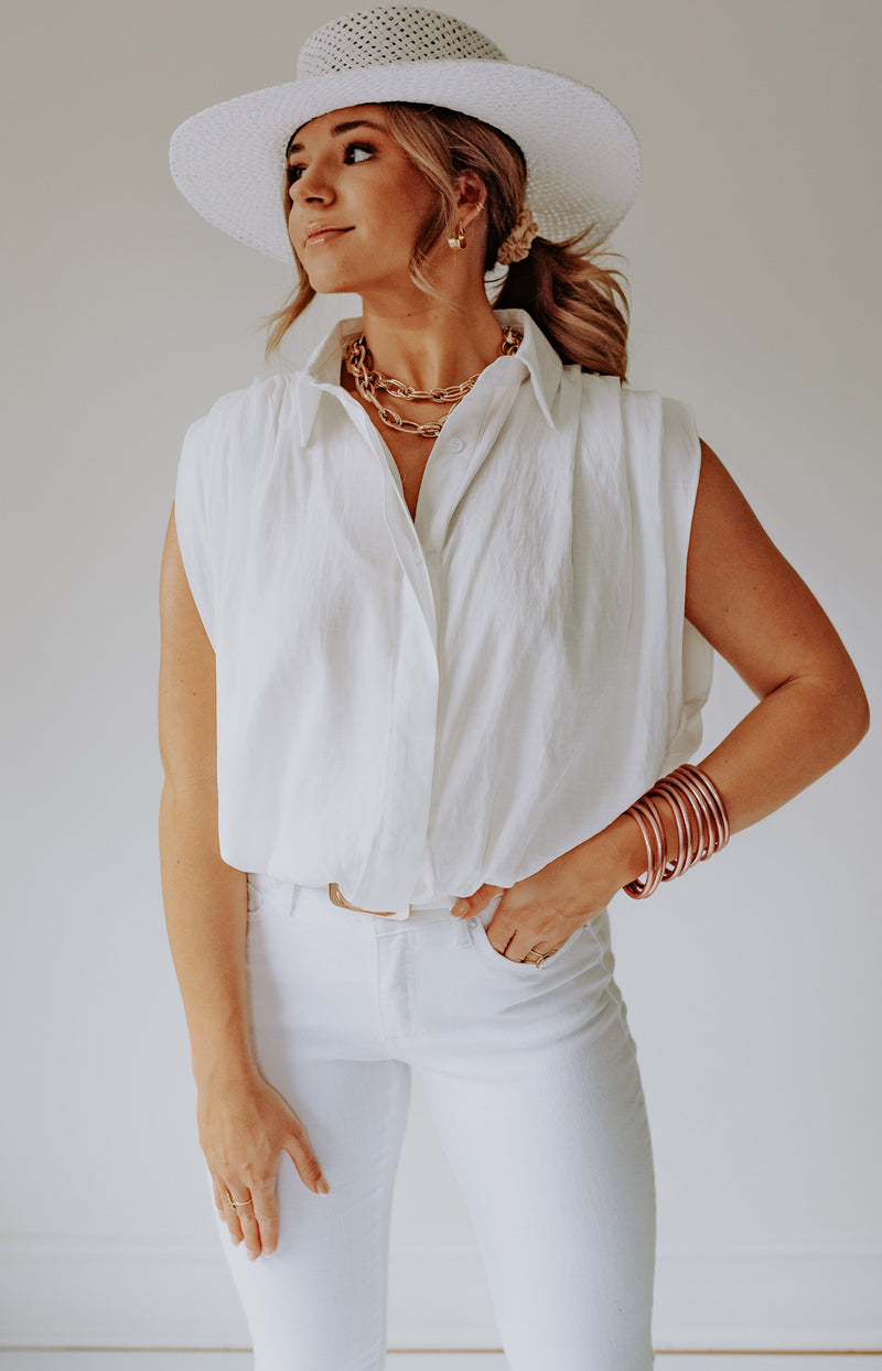 Be a Sweetie Short Sleeve Top - White