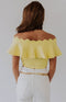 Social Butterfly Ruffle Sleeve Top - White Combo