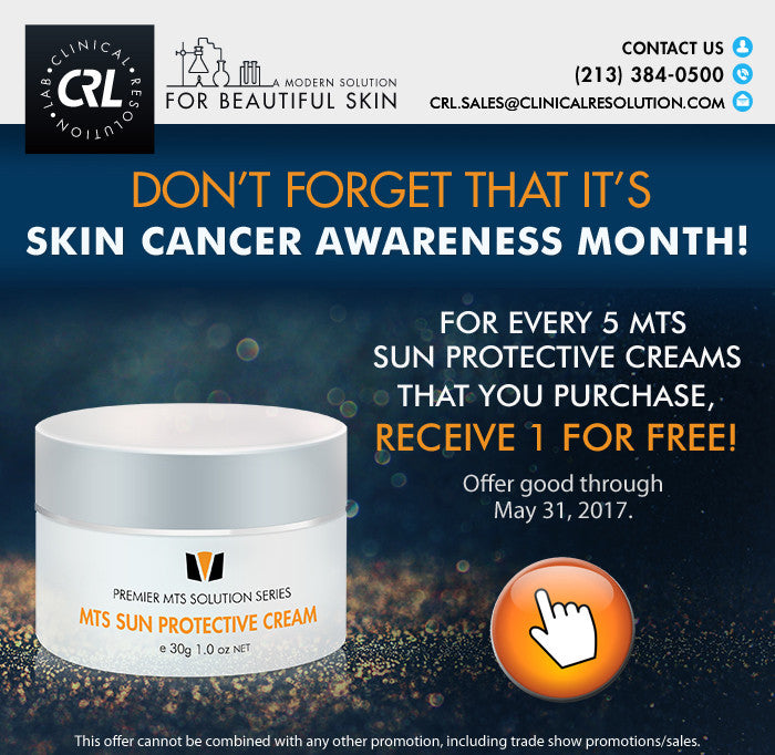 Don't Forget That It's Skin Cancer Awareness Month!