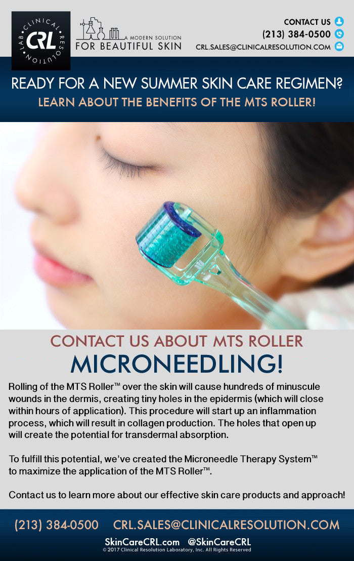 Ready For A New Summer Skin Care Regimen - MTS Roller - Clinical Resolution