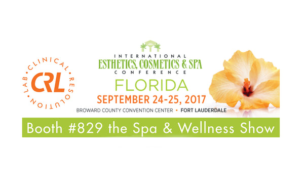 Visit Clinical Resolution Lab @ IECSC 2017 - International Esthetics Cosmetics & Spa Conference - Ft. Lauderdale, Florida