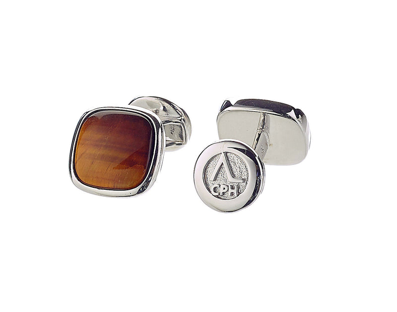 Hope Cufflinks Tiger Eye - ALEXANDER LYNGGAARD CPH