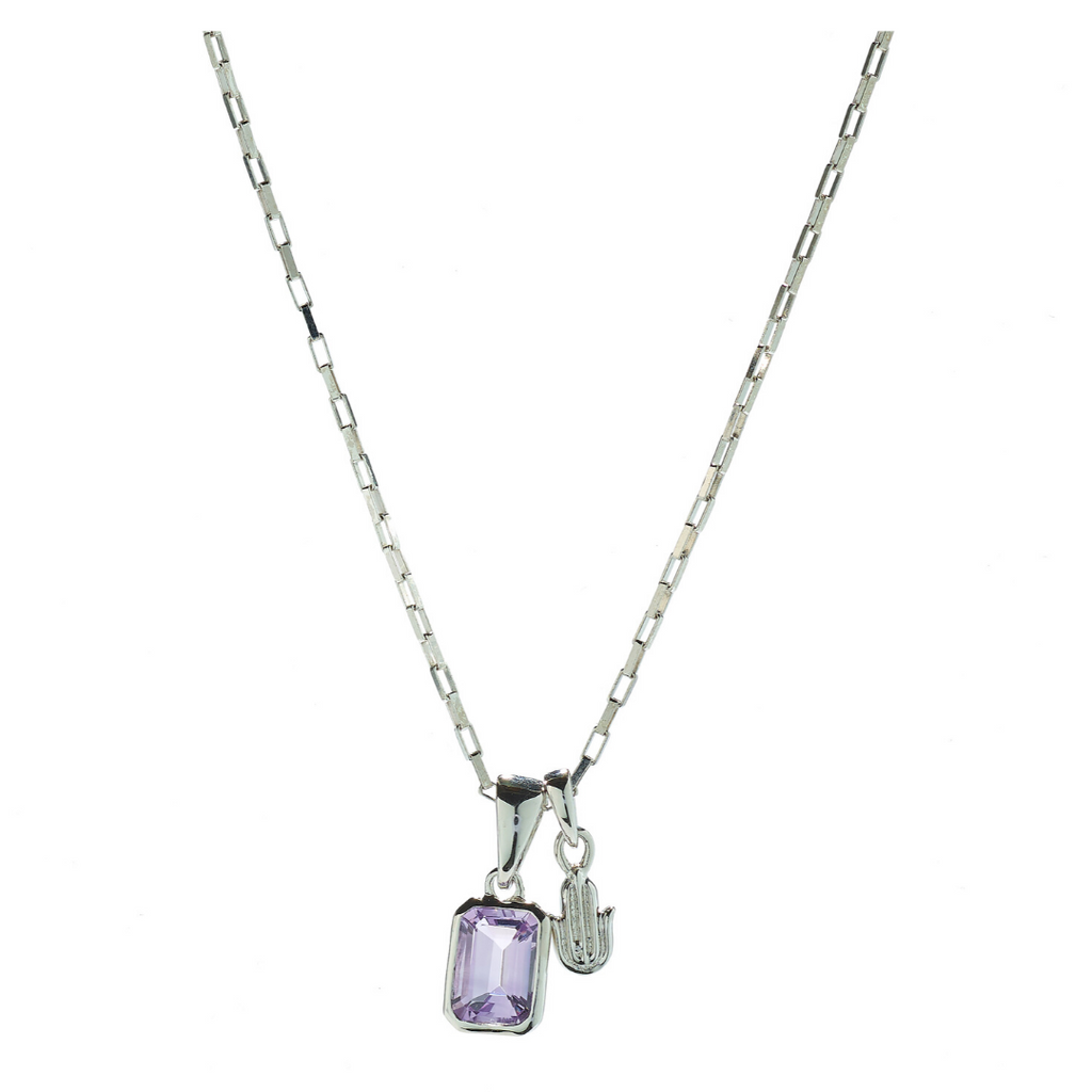 Hope Amethyst & Hamsa Necklace