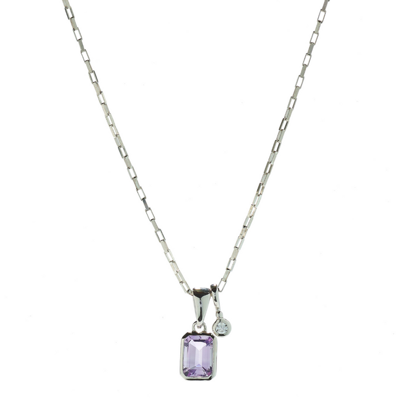 Hope Amethyst & White Topaz Necklace