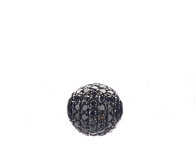 Black Diamond Bead 8mm - ALEXANDER LYNGGAARD CPH