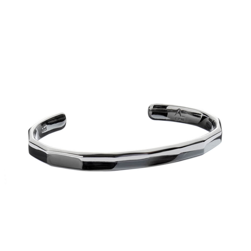 Hope Bangle Facet Black - ALEXANDER LYNGGAARD CPH