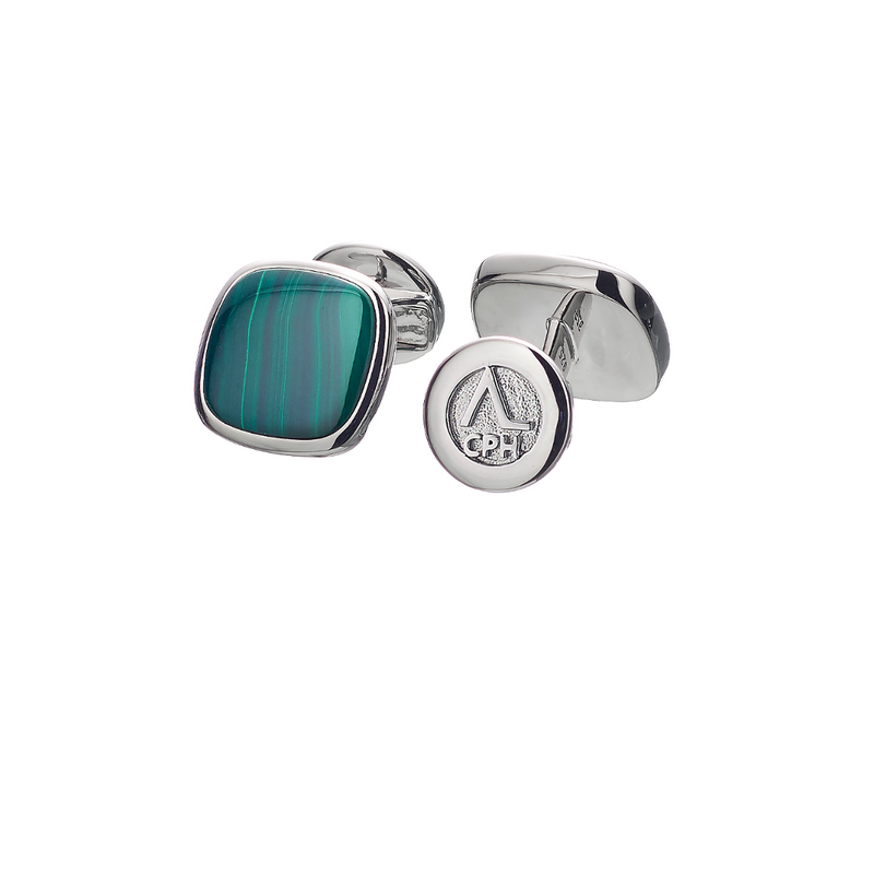 Hope Cufflinks Malachite - ALEXANDER LYNGGAARD CPH