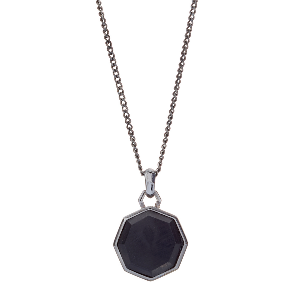 Hope Onyx Matte Facet Necklace - ALEXANDER LYNGGAARD CPH
