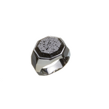 Hope Signet Ring Facet Lava Rock