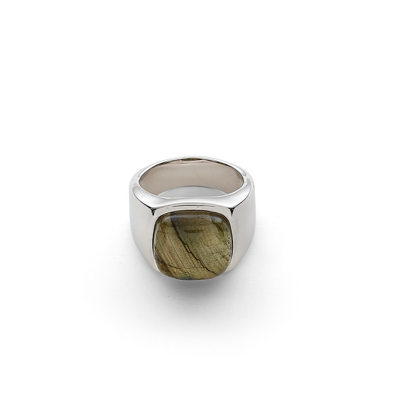 Hope Signet Ring with Labradorite
