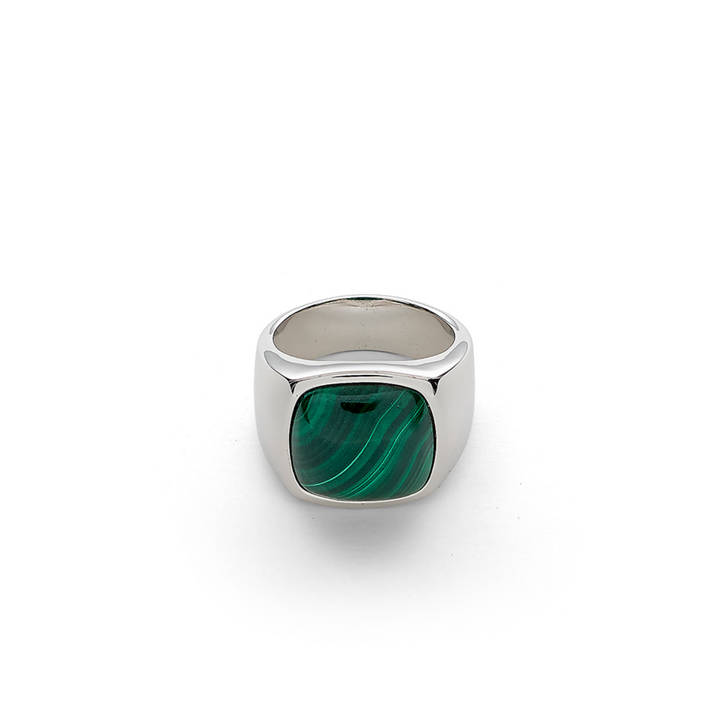 Hope Signet Ring with Malachite