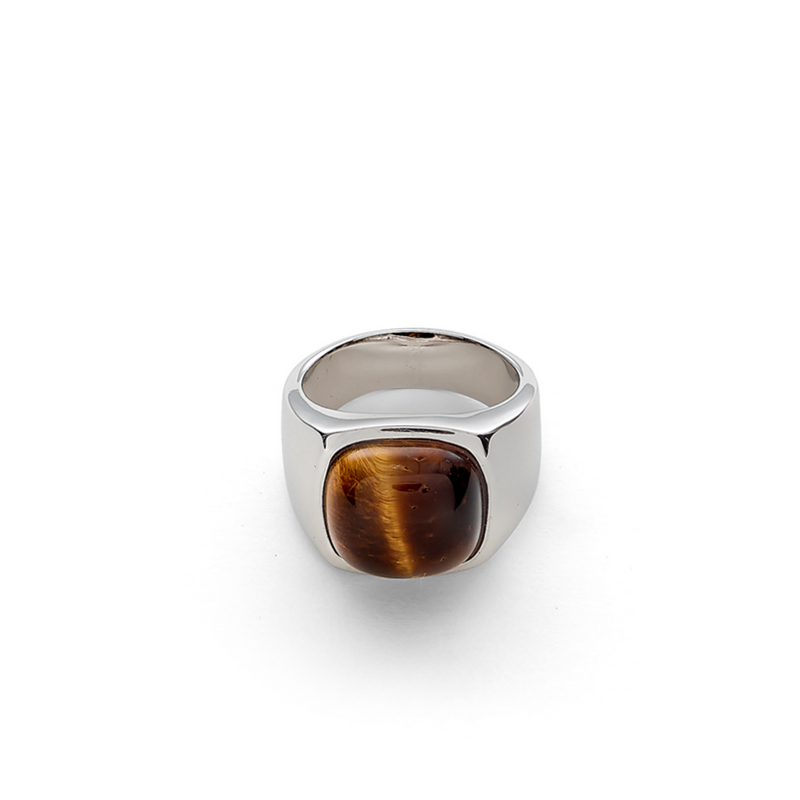 Hope Signet Ring with Tiger Eye