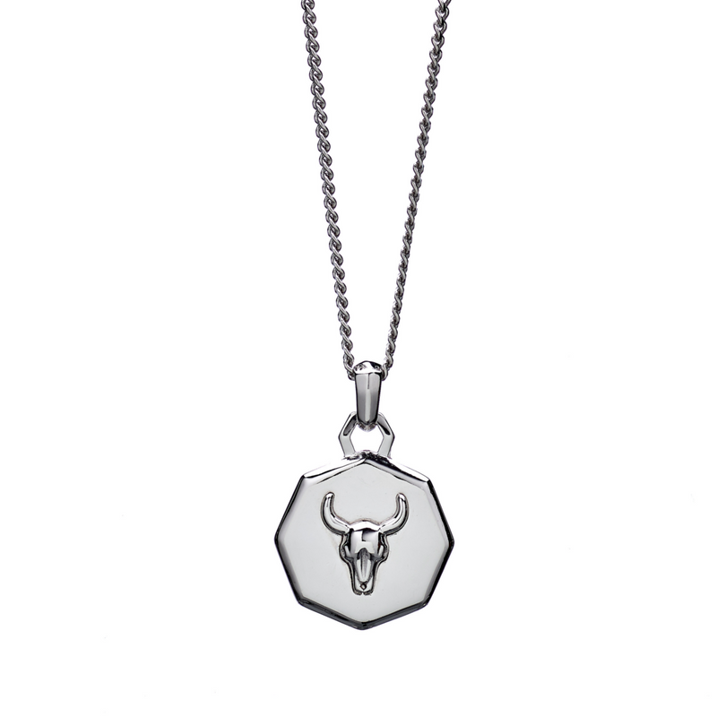 Lluks Facet Bull Skull Necklace