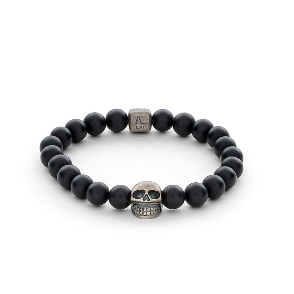 Lluks Skull with Black Onyx Matte (8mm)
